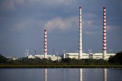 Central eléctrica de calor Imagen de archivo libre de regalías
