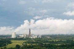 Central eléctrica de calor Fotos de archivo libres de regalías