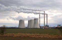 Central eléctrica de carbón Foto de archivo libre de regalías