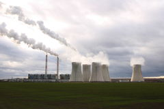 Central eléctrica de carbón Imagen de archivo