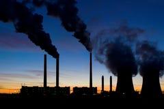 Central eléctrica de carbón fotografía de archivo