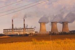 Central eléctrica de carbón Imagenes de archivo