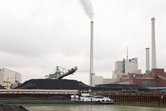 Central eléctrica de carvão Fotografia de Stock
