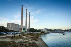 Central eléctrica de Dynegy - bahía de Morro - California Fotos de archivo