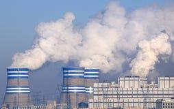 Central eléctrica de energía del carbón Imagenes de archivo