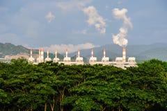 Central eléctrica de energía del carbón Foto de archivo libre de regalías