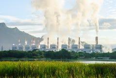Central eléctrica de energía del carbón Fotos de archivo libres de regalías