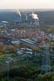 Central eléctrica de energía del carbón para la producción de electricidad en el La Robla Fotografía de archivo