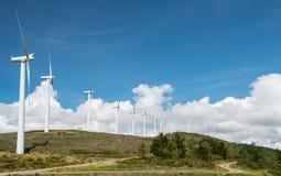 Central eléctrica de energía eólica Foto de archivo libre de regalías