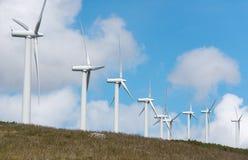 Central eléctrica de energía eólica Imágenes de archivo libres de regalías