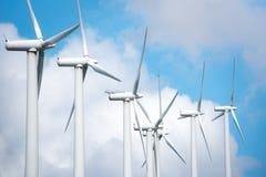 Central eléctrica de energía eólica Fotografía de archivo