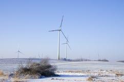 Central eléctrica de energía eólica Imagen de archivo libre de regalías