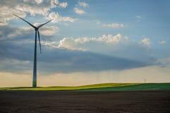 central eléctrica de energía eólica 01 Imagen de archivo