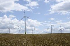 Central eléctrica de energía eólica fotografía de archivo libre de regalías