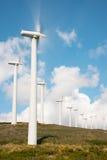 Central eléctrica de energía eólica en España septentrional Fotos de archivo libres de regalías