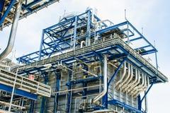 Central eléctrica de gas natural Fotos de archivo libres de regalías
