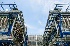 Central eléctrica de gas natural Imágenes de archivo libres de regalías