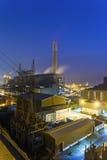 Central eléctrica de Hong Kong en la puesta del sol Imagenes de archivo