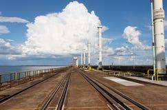 Central eléctrica de Itaipu Hydroeletric imágenes de archivo libres de regalías