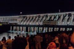 Central eléctrica de Itaipu Hydroeletric fotografía de archivo