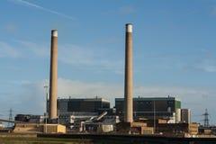Central eléctrica de la biomasa del tilburí Imagen de archivo