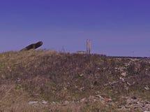 Central eléctrica de la duna de la playa 3497 foto de archivo