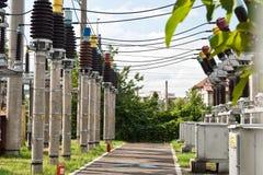 Central eléctrica de la energía y Imagen de archivo libre de regalías