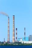 Central eléctrica de Ryazan Imágenes de archivo libres de regalías