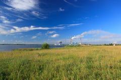Central eléctrica de Ryazan Foto de archivo libre de regalías