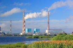 Central eléctrica de Ryazan Imagen de archivo libre de regalías