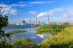 Central eléctrica de Ryazan Imagenes de archivo