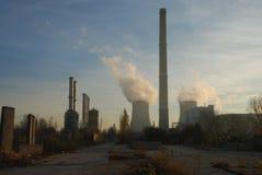 Central eléctrica de Smocking Fotos de archivo libres de regalías