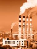 Central eléctrica de trabajo Fotografía de archivo libre de regalías