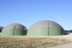 Central eléctrica del biogás foto de archivo