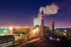 Central eléctrica del carbón imagen de archivo