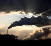 Central eléctrica del carbón Imágenes de archivo libres de regalías