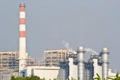 Central eléctrica del ciclo combinado del gas natural foto de archivo libre de regalías