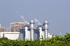 Central eléctrica del ciclo combinado del gas natural imágenes de archivo libres de regalías