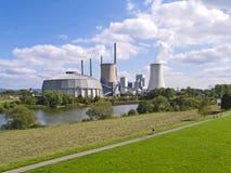 Central eléctrica do combustível fóssil Fotos de Stock Royalty Free
