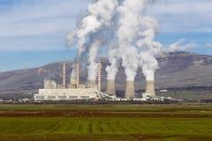 Central eléctrica elétrico fotografia de stock