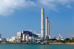 Central eléctrica elétrico despedido carvão fotografia de stock