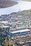 Central eléctrica en Kiev, Ucrania fotografía de archivo libre de regalías