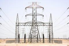 Central eléctrica en Kuwait Fotos de archivo libres de regalías