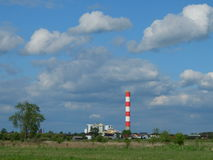 Central eléctrica en la ciudad de Radom imagen de archivo libre de regalías