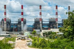 central eléctrica en Lampang, Tailandia Imagen de archivo