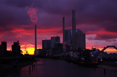 Central eléctrica en Mannheim, Alemania Fotos de archivo