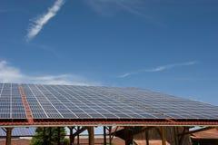 Central eléctrica fotovoltaica Imagen de archivo