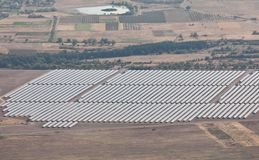 Central eléctrica fotovoltaica cerca de Kazanlak Imagenes de archivo