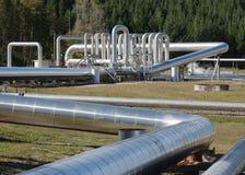 Central eléctrica geotérmica fotos de archivo libres de regalías