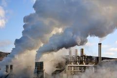 Central eléctrica geotérmica de Svartsengi - Islandia Foto de archivo libre de regalías